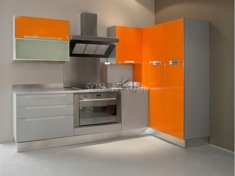Кухня МДФ Сигнал оранж У-69