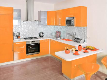 Кухня МДФ Пастель оранж DW У-15