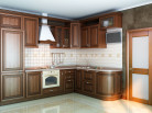 Кухня МДФ Черешня 03 У-58