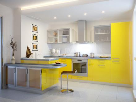 Кухня из пластика Виталити 0670