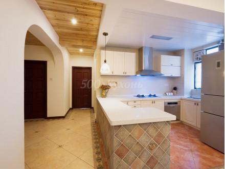 Кухня МДФ белое дерево п-01