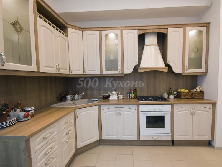 Кухня МДФ Белое дерево У-04