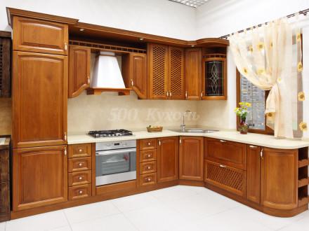 Кухня МДФ Ольха темная матовая У-52