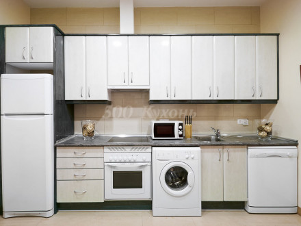 Кухня МДФ белое дерево Пр-06