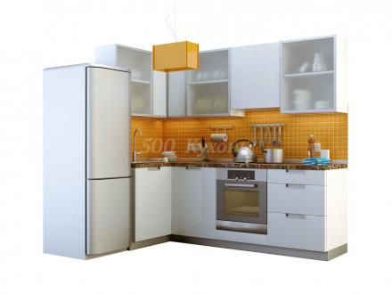 Кухня МДФ Белая глянцевая SY У-14