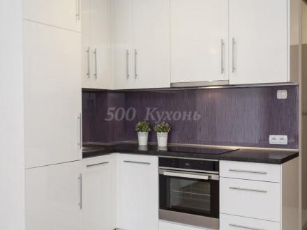 Кухня МДФ Белая глянцевая У-24