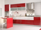 Кухня МДФ Бордо-белый DW Пр-09