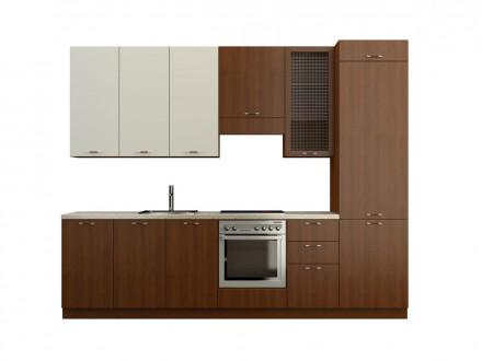 Кухня МДФ Белая глянцевая SY/Черешня 0.3 Пр-27